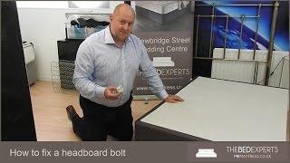How to fix a headboard Bolt.