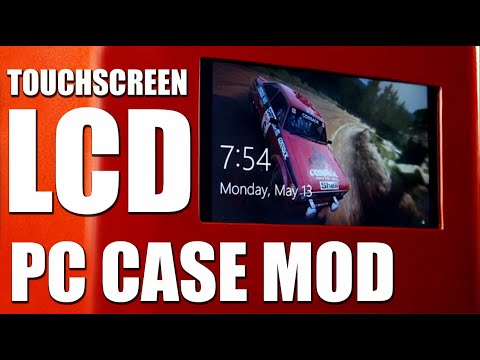 How To Install LCD Touch Screen Desktop Computer & Gaming PC Case Mod Guide