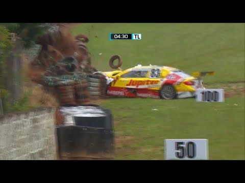 Stock Car Brasil 2017. FP Autódromo Internacional de Tarumã. Gabriel Casagrande Crash