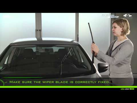 How to Fit Valeo Silencio Push Button Wiper Blades - Fitting Number 6