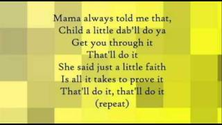 That'll Do It by Anointed [Lyrics]