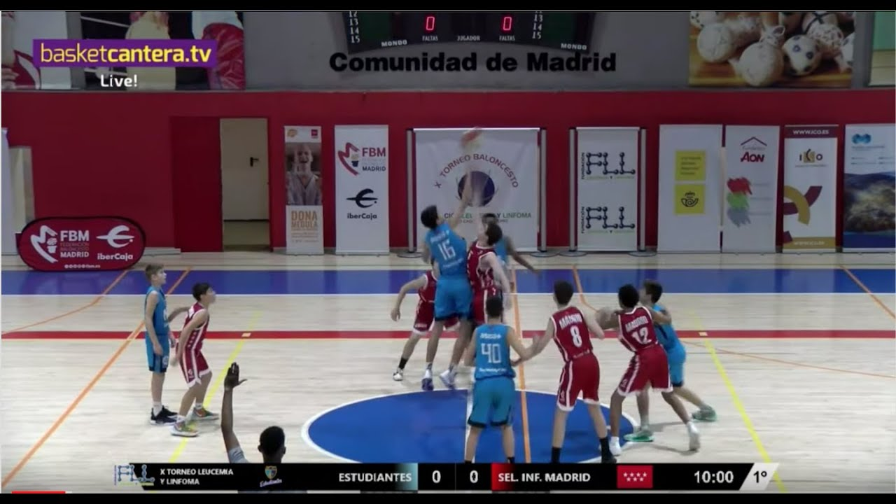 Directo - U15M - ESTUDIANTES vs SEL. INFANTIL MADRID - Torneo FLL 2019 (BasketCantera.TV)