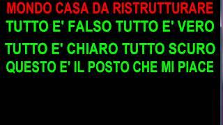Mondo Cesare Cremonini Feat  Jovanotti karaoke