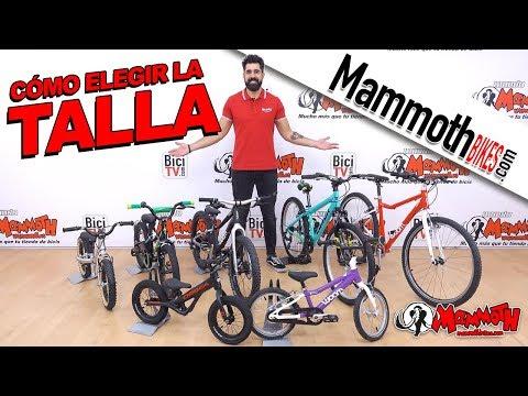 Cómo elegir la talla de una bici de niño