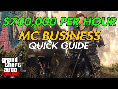 GTA ONLINE $700,000 PER HOUR MC BUSINESS QUICK GUIDE