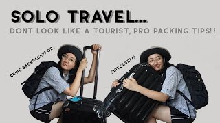WHAT TO PACK FOR A WEEK LONG TRIP, Solo traveling packing tips, female solo trip safety, how to pack