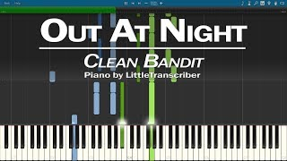 Clean Bandit - Out At Night (Piano Cover) ft KYLE & Big Boi Synthesia Tutorial by LittleTranscriber