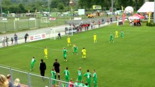 preview picture of video 'FC Tatran Prešov (green) (SK) 1:5 FC Atlet Kiev A (UA). Fragaria Cup 2014. 02.07.2014'