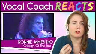Vocal Coach reacts to Ronnie James Dio - Children of the Sea - Live `83