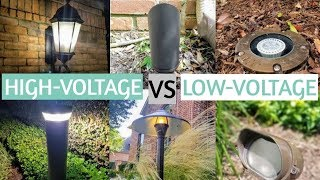 High Voltage Vs Low Voltage - Landscape Lighting