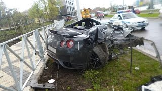 Nissan GT-R (r35) Crashes | Аварии Ниссан GT-R (r35) part 2
