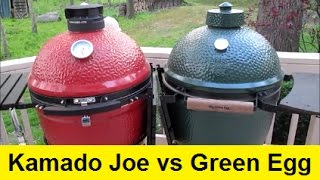 Big Green Egg vs Kamado Joe Ceramic Grills