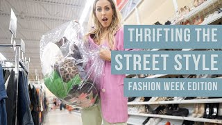 COME THRIFTING WITH ME// INSPIRED BY THE STREET STYLE OF FASHION WEEK