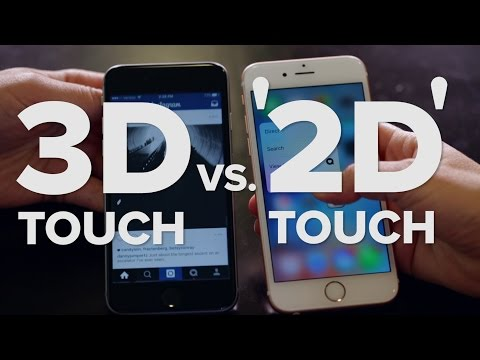 3D Touch on the iPhone 6S vs. '2D Touch' on iPhone 6