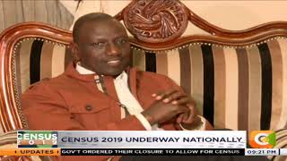 DP Ruto takes part in Census 2019 at his home in Karen