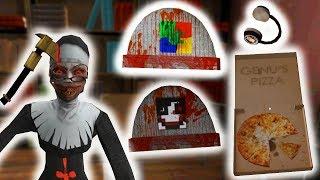 СЕКРЕТНЫЕ ПАСХАЛКИ ТОПОР ПИЦЦА НАУШНИКИ В МОНАХИНЕ! DeGoBoom Vividplays - The Nun Монахиня Evil Nun