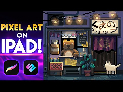 Pixelart on iPad [COMPLETE PROCREATE TUTORIAL] (+Pixaki)