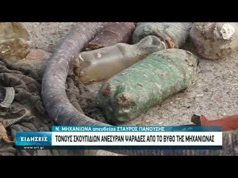 Σκουπίδια και πλαστικά στον βυθό της Νέας Μηχανιώνας | 20/10/2020 | ΕΡΤ