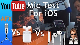 AirPods Vs EarPods Vs AFX firestar  sound Test iOS Youtube mic