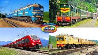 Поезда для детей и железная дорога. Развивающее видео для детей про Железнодорожный транспорт