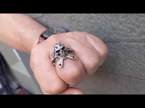 Z Details about  /Spanner Tool Ring 925 solid silver Mechanic Builder Metal Biker Sizes M