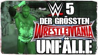 5 Große Unfälle, Die Bei WWE WrestleMania Passierten (DEUTSCH/GERMAN)