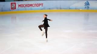 Камила Валиева, дорожка и вращение (Первенство Москвы мл. вз. 2018)