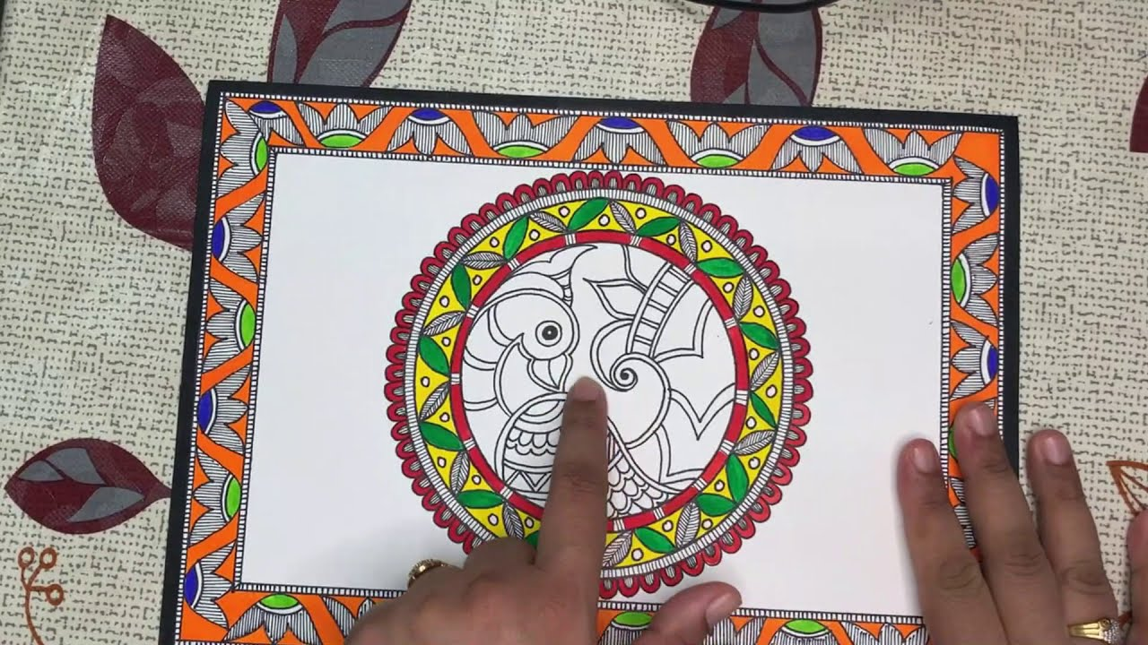 madhubani painting for beginers tutorial by trivenika