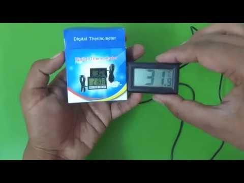 Digital Aquarium Thermometer with LCD Display.