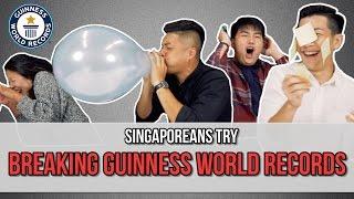 Singaporeans Try: Breaking Guinness World Records