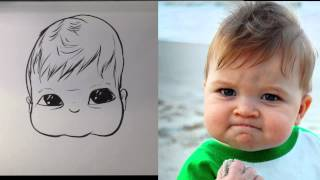 How To Caricature A Baby - Easy Drawings