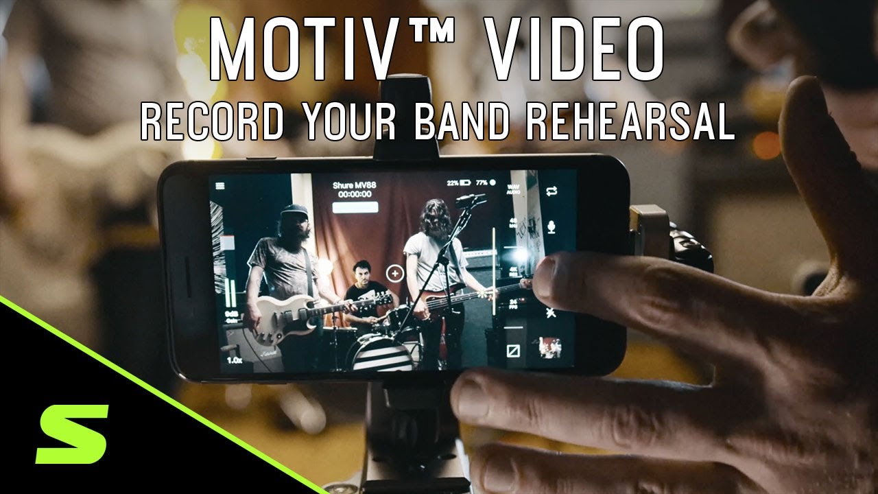ShurePlus™ MOTIV™ Video - Record your band rehearsal