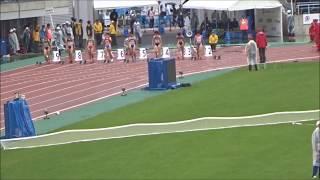 えひめ国体・陸上競技/少年女子A100m決勝、1着:兒玉芽生(大分)11秒82