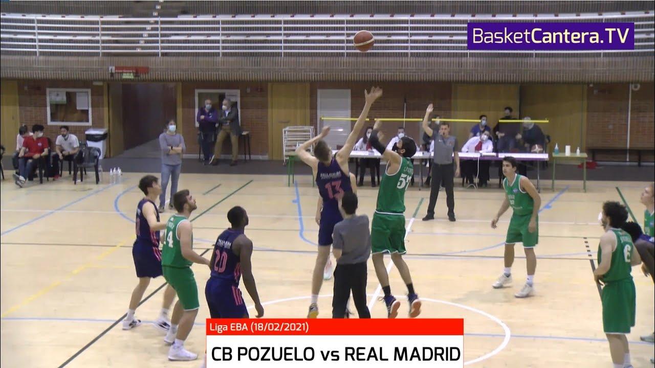 EBA - CB POZUELO vs REAL MADRID.- Liga Eba (18/2/21) #BasketCantera.TV