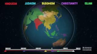 Как 5 крупнейших религий распространились по всему миру Анимированная карта