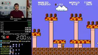 (4:56.528) Super Mario Bros. any% speedrun *Former World Record*