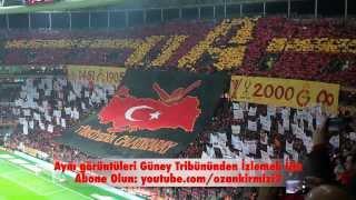 """Galatasaray-Beşiktaş Maç Önü Muhteşem Koreografi """"Türkiyedir Galatasaray"""" Ve """"Şereftir Seni Sevmek"""""""