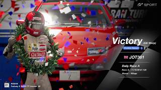 JOT381 GRAN TURISMO SPORT 111018 ALSACE NISSAN 300ZX 3rd to 1st ONLINE RACE 3 LAPS 838th WIN