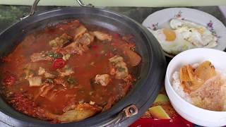 Кимчи Суп или Кимчитиге Корейская кухня Острый Суп рецепт 김치찌개 Kimchi Stew (Kimchi-jjigae) recipe