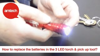 How to replace the batteries in the 3 LED telescopic torch & magnetic pick up tool?