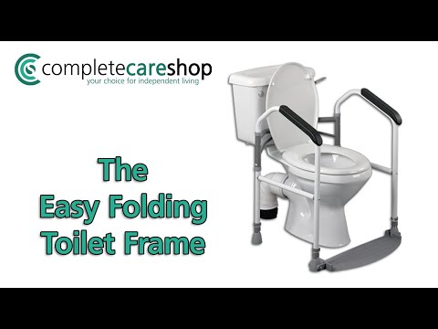 Easy Folding Toilet Frame Demonstration