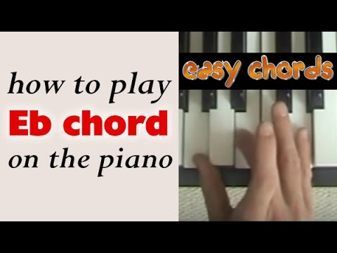 Eb Chord Piano - how to play Eb major chord on the piano