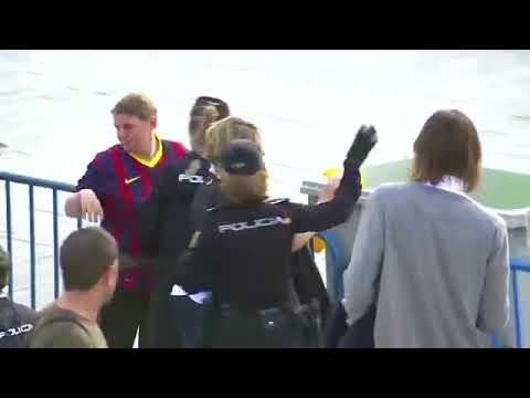 Policía Nacional requisa camisetas amarillas en la final de Copa del Rey