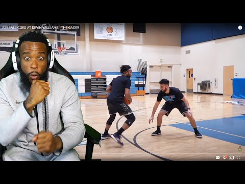HOOPIEST vs HOOPIEST! R2BBALL GOES AT DEVIN WILLIAMS!! THE CAGE!!