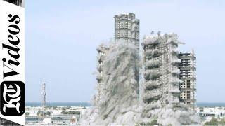 В Абу-Даби взорвали сразу четыре небоскреба. ВИДЕО