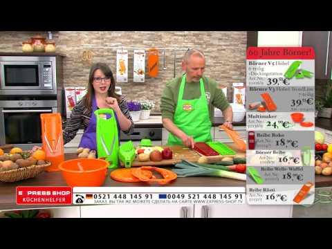 Börner Reibe - Jübiläumsangebote bei WWW.EXPRESS-SHOP.TV