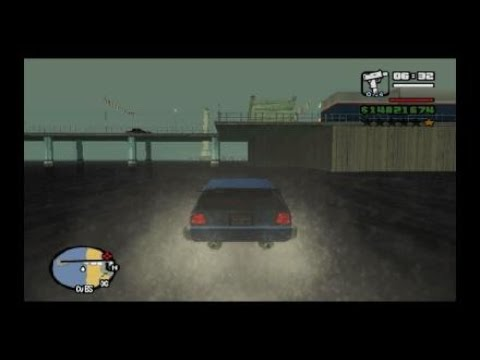 Grand Theft Auto: San Andreas Drive On Water Cheat