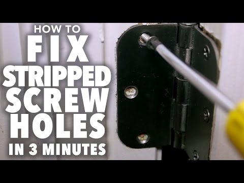Fix Stripped Screw Holes - 3 MINUTE FIX!