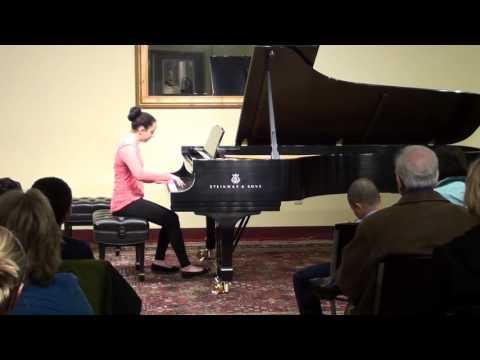 Student Ella plays Fluttering Leaves by Heller