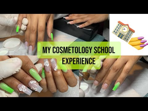 WATCH ME WORK ACRYLIC NAILS / Cosmetology School Experience Storytime